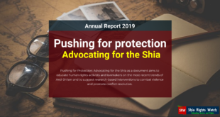 Shia Rights Watch_Pushing for protection 2019